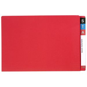 Avery Foolscap Lateral File Red 100 Pack