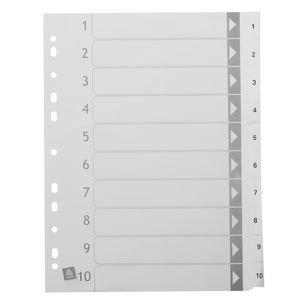 Avery polypropylene a4 printed tabs dividers 1 10 white for Avery index tabs template