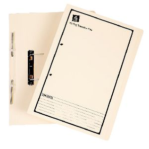 Avery Foolscap Spiral Spring File Buff with Black Print