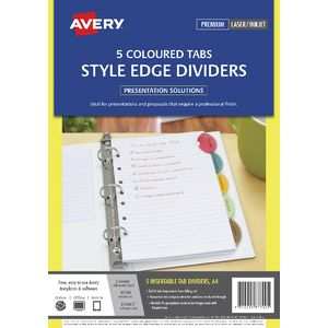 Avery Style Edge A4 Dividers 5 Tab