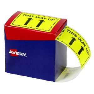 Avery 'This Way Up' Labels 75 x 99.6mm Yellow