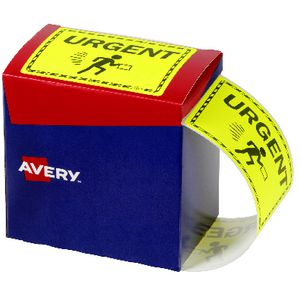 Avery 'Urgent' Labels 75 x 99.6mm Yellow
