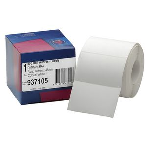 Avery Address Label Roll White 78 x 48mm 500 Labels