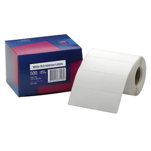 Avery Address Label Roll White 102 x 36mm 500 Labels