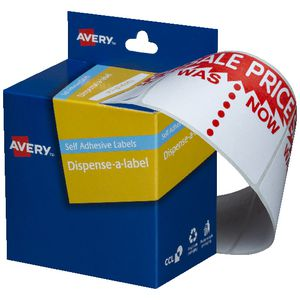 Avery Pre Printed Dispenser Label Sale Was/Now 125 Pack