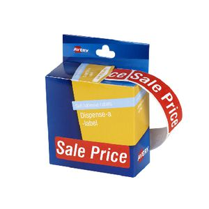 Avery Pre-printed Dispenser Label 'Sale Price' 125 Pack