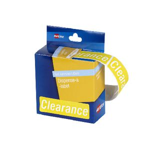 Avery Pre-printed Dispenser Label 'Clearance' 125 Pack