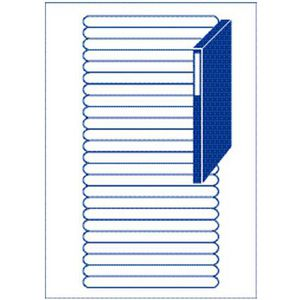 Avery Fine Spine Filing Labels White 25 Sheets 24 Per Page