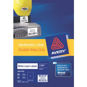 Avery Durable Heavy Duty Labels 1up Pk/25