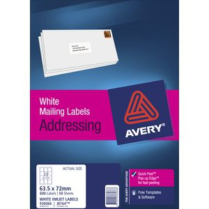 Avery Address Labels 50 Pack