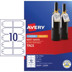 Avery Gift Tags 89 x 51mm 50 Pack