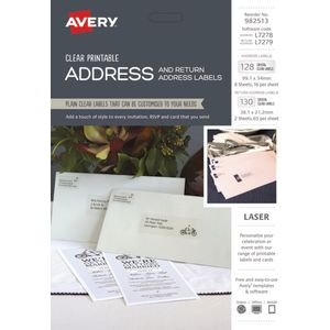 Avery Crystal Clear Address Labels Kit 258 Pack