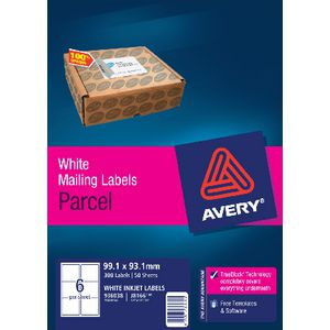 Avery Mailing Labels 50 Sheets 6 Per Page White