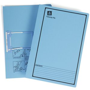 Avery Tubeclip File Foolscap Blue