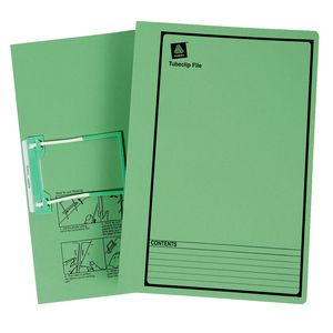 Avery Tubeclip File Foolscap Green