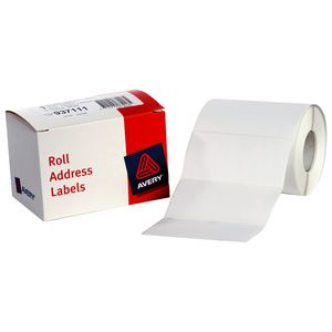 Avery Address Label Roll White 102 x 49mm 500 Labels