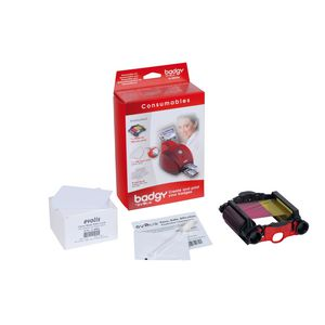 Badgy Consumables Kit With 100 Thick Cards
