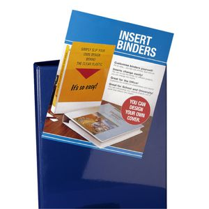 Bantex Insert Binder A5 2 D-Ring 25mm Blue