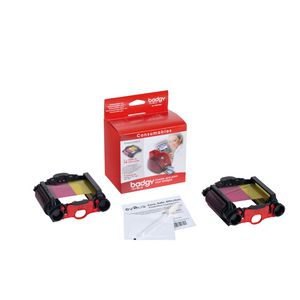 Badgy Colour Ribbon Cartridges Twin Pack