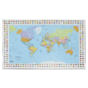 Bantex Desk Pad Map of the World