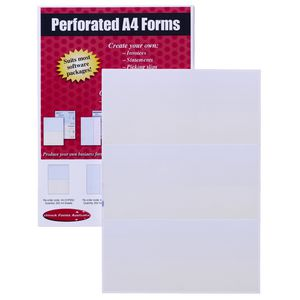 Rediform A4 Laser Form Perforated Thirds Paper 250 Sheets