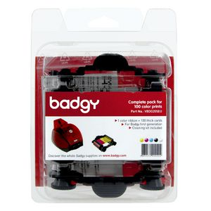 Badgy 205EU Ribbon Cards 100 Pack