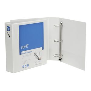 Bantex A4 3 D-Ring Insert Binder 50mm Push Lever White