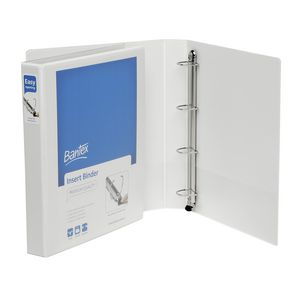 Bantex A4 4 D-Ring Insert Binder 25mm Push Lever White