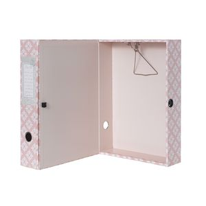 Box File Foolscap Matte Laminate Printed Graphic Pink