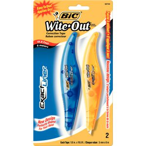BIC Wite-Out Exact Liner Correction Tape 5mm x 6m 2 Pack