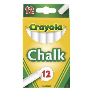 Crayola Chalk White 12 Pack