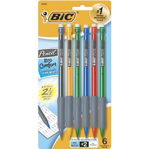 BIC Xtra Comfort Mechanical Pencils 0.5 mm 6 Pack
