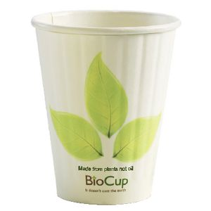 Biopak Biodegradable Cup 236mL Double Wall 1000 Pack