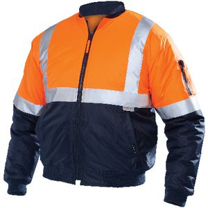 Ace Day/Night Hi-Vis Flying Jacket Orange/Navy Size 107