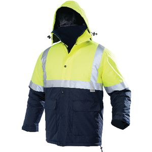 Ace Day/Night Hi-Vis Parka Yellow/Navy Size 102