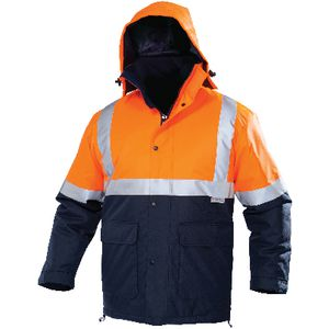 Ace Day/Night Hi-Vis Parka Orange/Navy Size 112