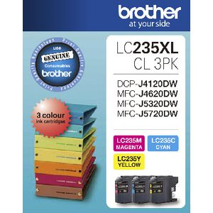 Brother LC-235XL Ink Cartridge Colour 3 Pack