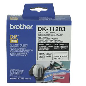 Brother File Folder Labels Pk/300