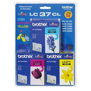 Brother LC-37 Tri-Colour Ink Value Pack
