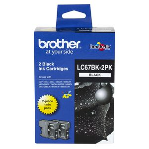 Brother LC-67 Black Ink Twin-Pack