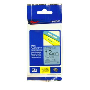 Brother TZe-531 Laminated Tape 12mm x 8m Black on Blue