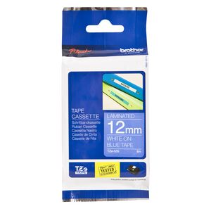 Brother TZe-535 Tape 12mm x 8m White on Blue