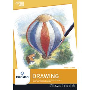 Canson A4 Drawing Pad 110gsm 50 Sheets