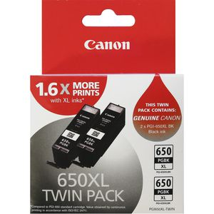 Canon PGI650XL Ink Cartridges Black 2 Pack