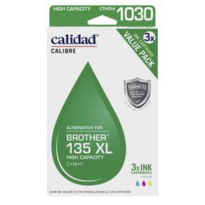 Calidad Alternative Brother 135XL Ink Cartridge Colour 3 Pack