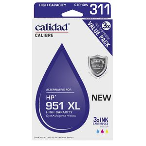 Calidad Alternative HP 950XL Ink Cartridge Colour 3 Pack