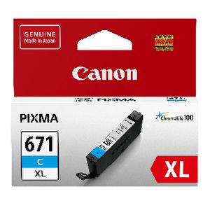 Canon CLI-671XL Ink Cartridge Cyan