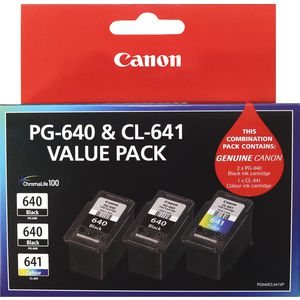 Canon PG640 and CL641 Ink Cartridge Value 3 Pack