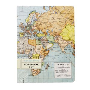 Cavallini Notebook World Maps 2 Pack
