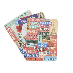 Cavallini Mini Notebook Paris 3 Pack